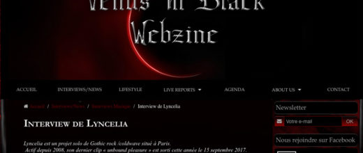 Lyncelia Interview for venus in black webzine
